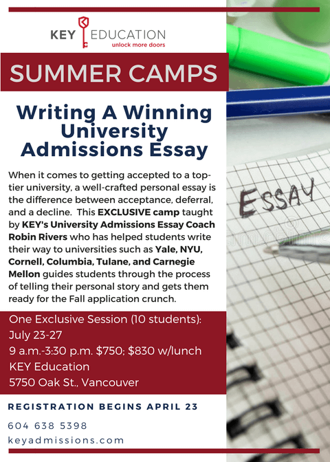 University Essay Writing Camp