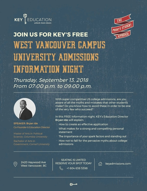 University Admissions Information Night